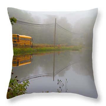 Back To School Throw Pillow by Karol Livote