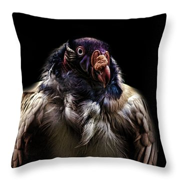 Bad Birdy Throw Pillow by Martin Newman