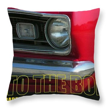 Bad To The Bone Throw Pillow by Richard Rizzo