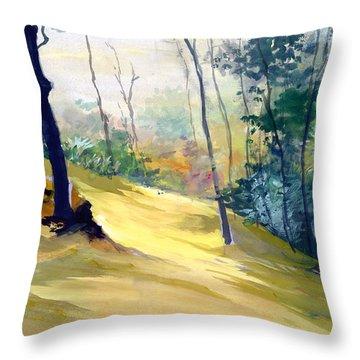 Balance Throw Pillow by Anil Nene
