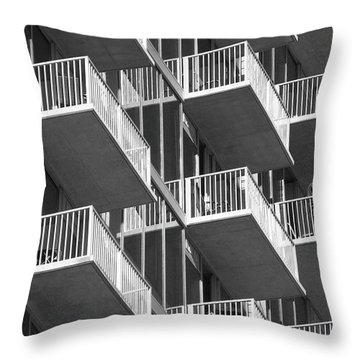 Balcony Colony Throw Pillow by WaLdEmAr BoRrErO
