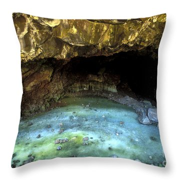 Bandera Ice Cave Throw Pillow by Sandra Bronstein