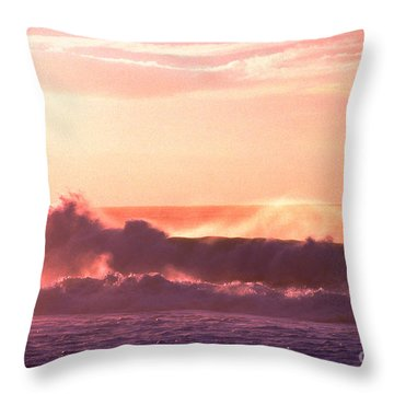 Banzai Beach North Shore Throw Pillow by Thomas R Fletcher