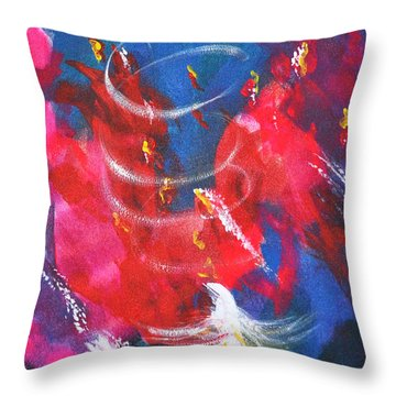 Baptism Of Fire Throw Pillow by Denise Warsalla