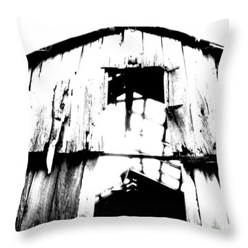 Barn Throw Pillow by Amanda Barcon