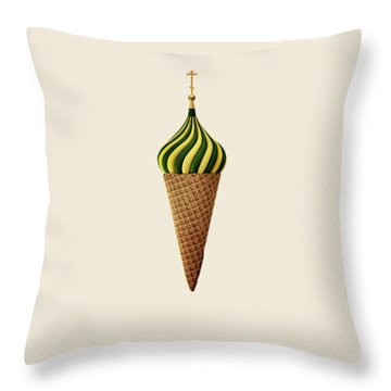 Basil Flavoured Throw Pillow by Nicholas Ely