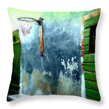 Basketball Court Throw Pillow by Funkpix Photo Hunter