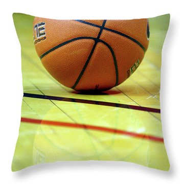Basketball Reflections Throw Pillow by Alan Look