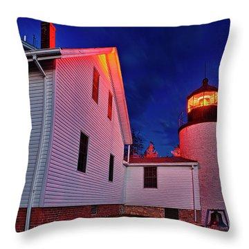 Bass Harbor Lighthouse Maine Throw Pillow by John Greim