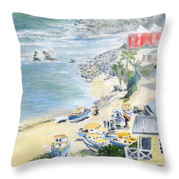 Bathsheba Lookout Throw Pillow by Richard Jules