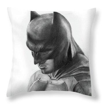 Batman Throw Pillow by Artistyf