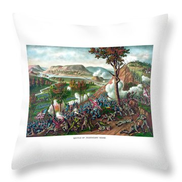 Battle Of Missionary Ridge Throw Pillow by War Is Hell Store