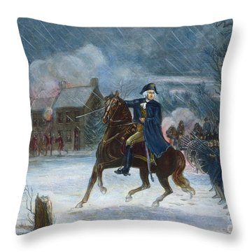 Battle Of Trenton, 1776 Throw Pillow by Granger