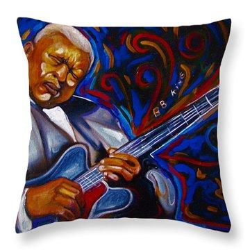 b.b KING Throw Pillow by Emery Franklin