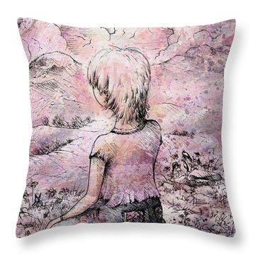 Be Still Throw Pillow by Rachel Christine Nowicki