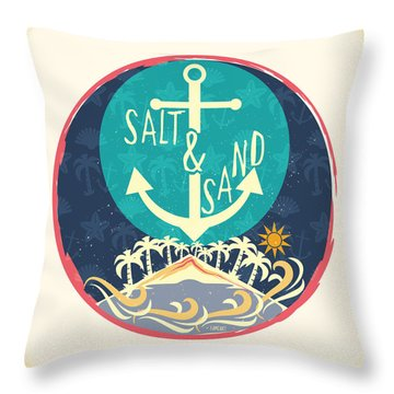 Beach Throw Pillow by Famenxt DB