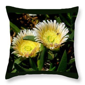 Beach Flower Throw Pillow by Joyce Woodhouse
