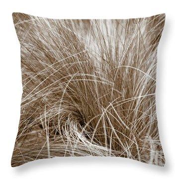 Throw Pillow featuring the photograph Beach Grass by Frank Tschakert