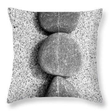 Throw Pillow featuring the photograph Beach Pebbles by Frank Tschakert