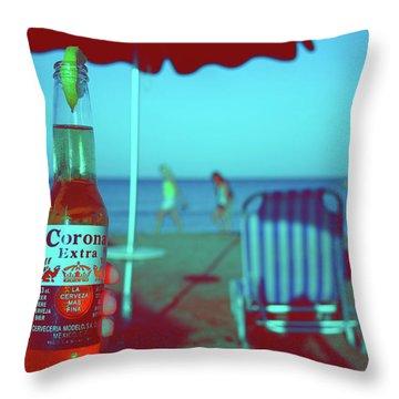 Beach Time Throw Pillow by La Dolce Vita