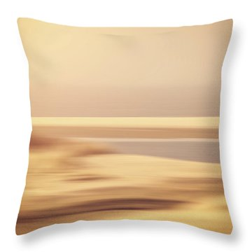 Beachscape Throw Pillow by Wim Lanclus