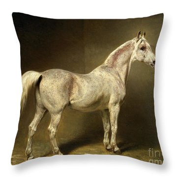Beatrice Throw Pillow by Carl Constantin Steffeck
