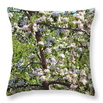 Beautiful Blossoms - Digital Art Throw Pillow by Carol Groenen