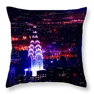 Beautiful Manhattan Skyline Throw Pillow by Az Jackson