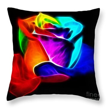 Beautiful Rose Of Colors Throw Pillow by Pamela Johnson