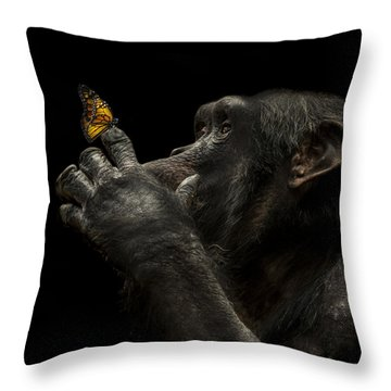 Beauty And The Beast Throw Pillow by Paul Neville