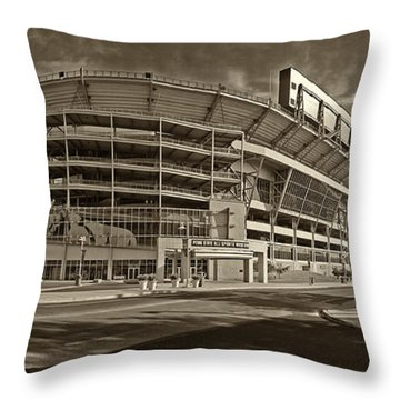 Beaver Stadium Throw Pillow by Jack Paolini
