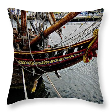 Before Setting Sail Throw Pillow by Douglas Barnard