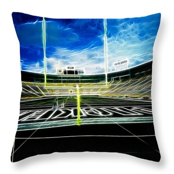 Before The Big Game Throw Pillow by Lawrence Christopher