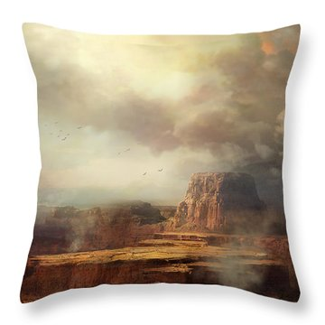 Before The Rain Throw Pillow by Philip Straub