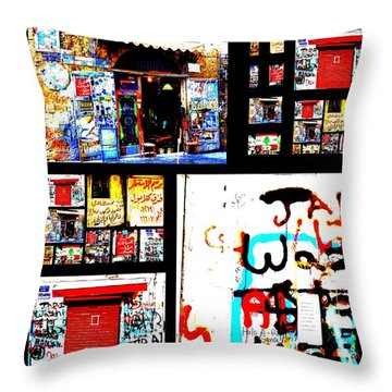 Beirut Colorful Walls  Throw Pillow by Funkpix Photo Hunter