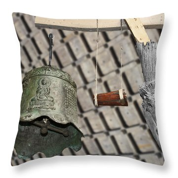 Bells Of The Orient Throw Pillow by Christine Till