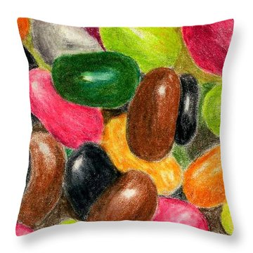 Belly Jelly Throw Pillow by Lynne Reichhart