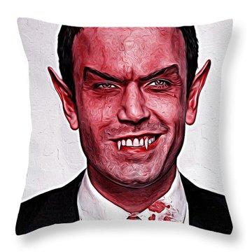 Ben Affleck Throw Pillow by Gene Spino