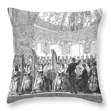 Benefit Concert, 1853 Throw Pillow by Granger
