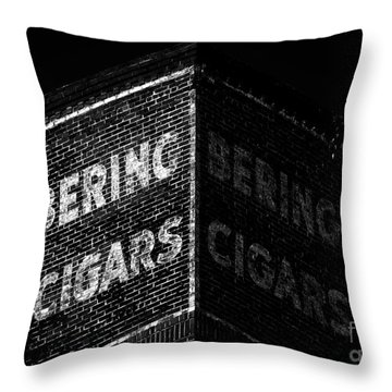 Bering Cigar Factory Throw Pillow by David Lee Thompson