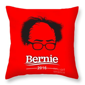Bernie Sanders Throw Pillow by Marvin Blaine