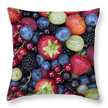 Berried  Throw Pillow by Tim Gainey