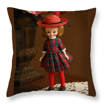 Betsy Doll Throw Pillow by Marna Edwards Flavell