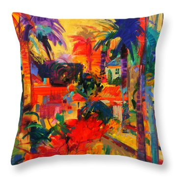Beverly Hills Throw Pillow by Peter Graham
