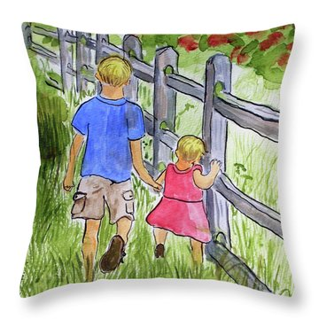 Big Brother Throw Pillow by Arlene  Wright-Correll