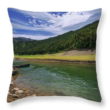 Big Elk Creek Throw Pillow by Chad Dutson