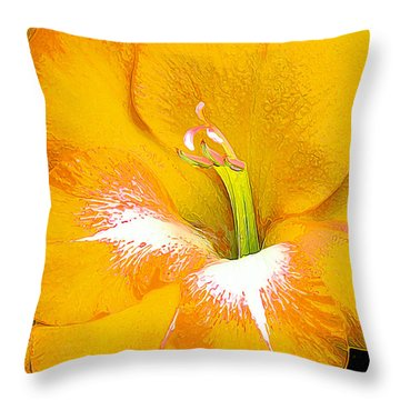 Big Glad In Yellow Throw Pillow by Bill Caldwell -        ABeautifulSky Photography