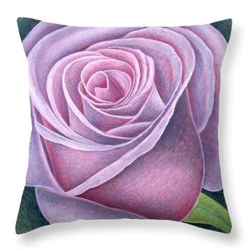 Big Rose Throw Pillow by Ruth Addinall