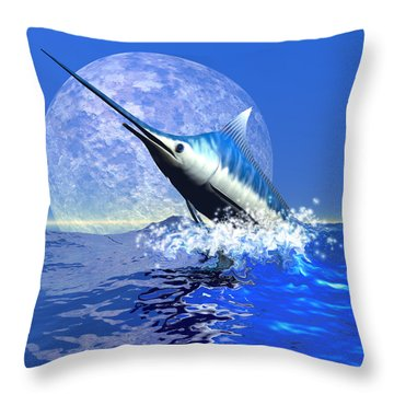 Billfish  Throw Pillow by Corey Ford