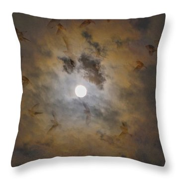 Bird Dreams Throw Pillow by Sue McGlothlin
